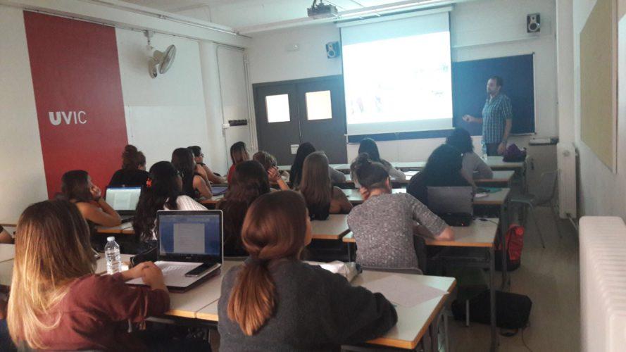 Àngel Casellas Conferència Canoteràpia a la Universitat de Vic